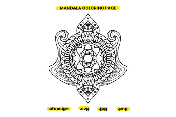 Print on Demand: Mandala Coloring Page Design 02 Graphic Coloring Pages & Books Adults By doridodesign