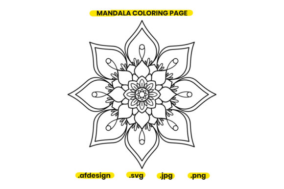 Print on Demand: Mandala Coloring Page Design 04 Graphic Coloring Pages & Books Adults By doridodesign