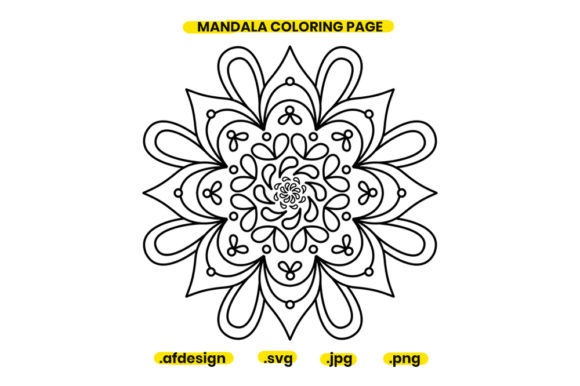 Print on Demand: Mandala Coloring Page Design 05 Graphic Coloring Pages & Books Adults By doridodesign
