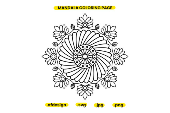 Print on Demand: Mandala Coloring Page Design 06 Graphic Coloring Pages & Books Adults By doridodesign