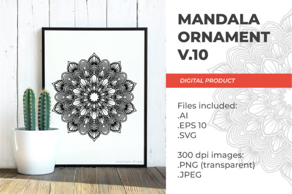Print on Demand: Mandala - Floral Vintage - V.10 Graphic Coloring Pages & Books Adults By ImGhani