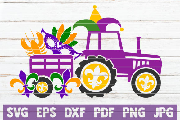 Mardi Gras Truck Graphic Crafts By MintyMarshmallows