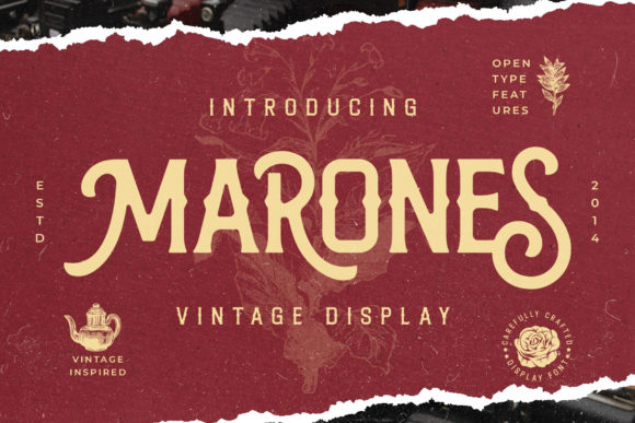 Print on Demand: Marones Display Font By Arterfak Project