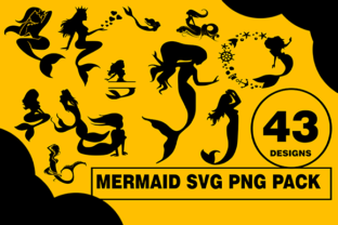 Print on Demand: Mermaid Design Bundle Graphic Illustrations By CactusTreeDesigns
