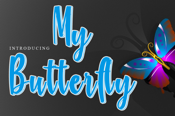 Print on Demand: My Butterfly Script & Handwritten Font By gunawanletter
