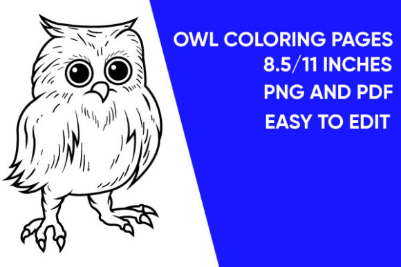 Print on Demand: Owl Coloring Page - Illustration Graphic Coloring Pages & Books Adults By Mah Moud