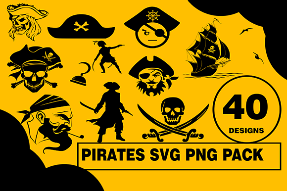 Print on Demand: Pirate Design Bundle Graphic Illustrations By CactusTreeDesigns