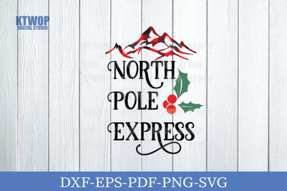 Print on Demand: Plaid Santa North Pole Express Graphic Crafts By KtwoP