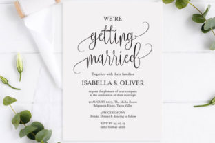 Printable Wedding Invitation Rustic Graphic Print Templates By TwentyOneStudios