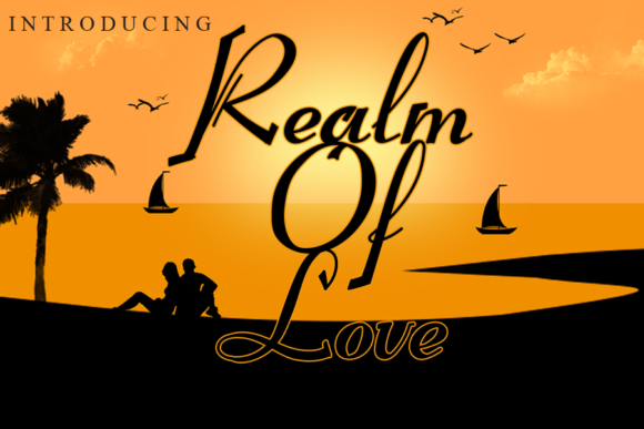 Print on Demand: Realm of Love Script & Handwritten Font By ink paper