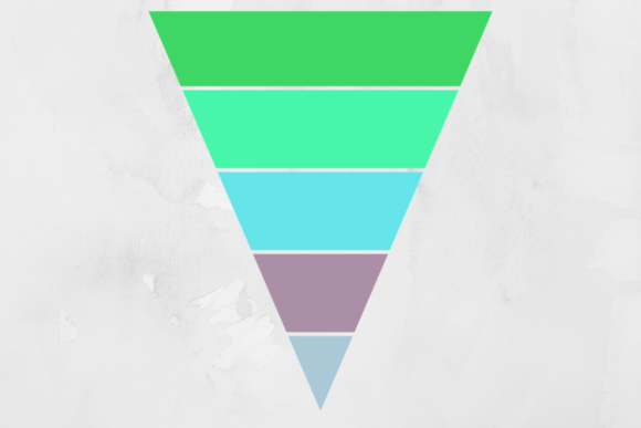 Print on Demand: Retro Striped Triangle Background Gráfico Backgrounds Por atlasart