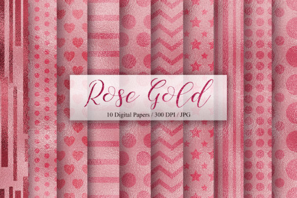 Rose Gold Seamless Pattern Digital Paper Graphic Backgrounds By PinkPearly