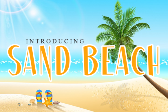 Print on Demand: Sand Beach Display Font By gunawanletter