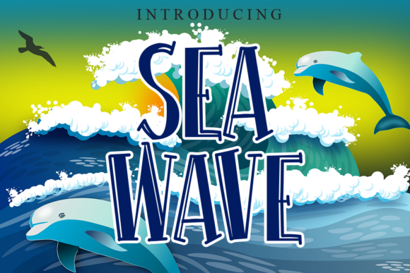 Print on Demand: Sea Wave Display Font By gunawanletter