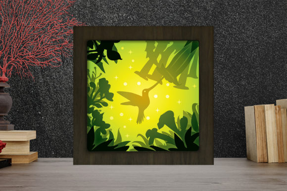 Simplified Birds Light Box Shadow Box Graphic
