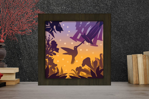 Simplified Birds Light Box Shadow Box Graphic Download