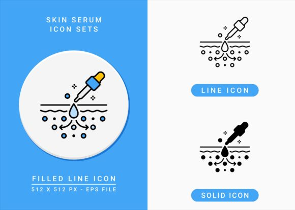 Print on Demand: Skin Serum Icons Set Graphic Icons By zenorman03