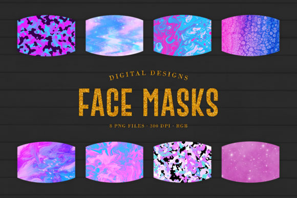 Print on Demand: Sublimation Face Masks Digital Designs Graphic Crafts By Sabina Leja