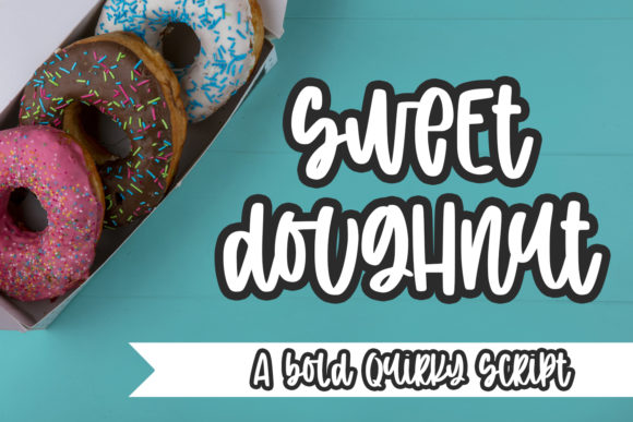 Print on Demand: Sweet Doughnut Script & Handwritten Font By Abodaniel