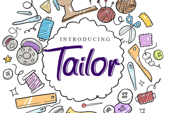 Print on Demand: Tailor Script & Handwritten Font By gunawanletter