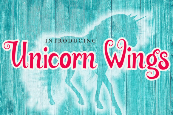 Print on Demand: Unicorn Wings Script & Handwritten Font By gunawanletter