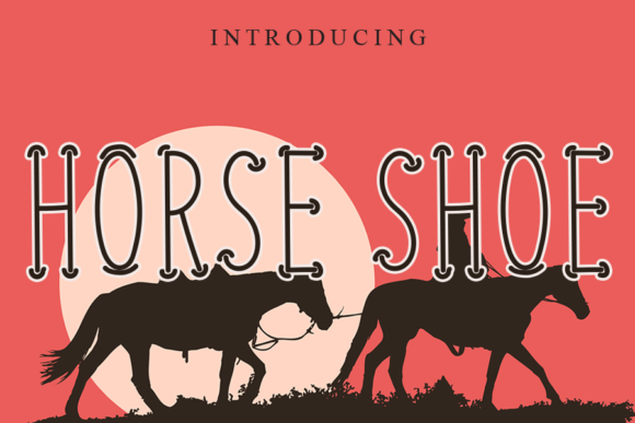 Print on Demand: Horse Shoe Script & Handwritten Font By gunawanletter