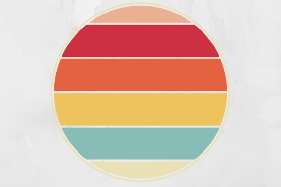 Print on Demand: Vintage Retro Striped Circle Background Graphic Backgrounds By atlasart