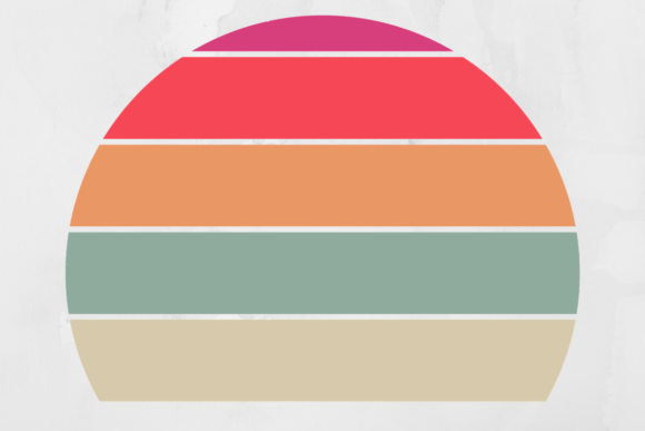 Print on Demand: Vintage Retro Striped Sunset Background Graphic Backgrounds By atlasart