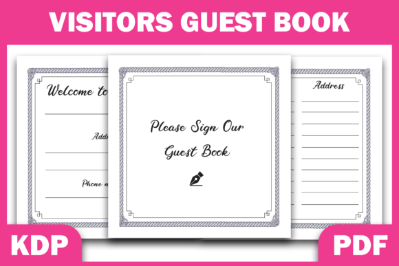 Print on Demand: Visitors Guest Book | Ready KDP Interior Graphic KDP Interiors By Fayne