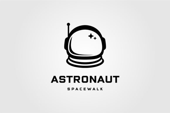 Astronaut Helmet Space Walk Travel Logo Graphic Logos By lawoel