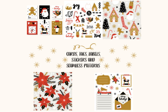 Christmas Seamless Print Template Vector Graphic Print Templates By byemalkan