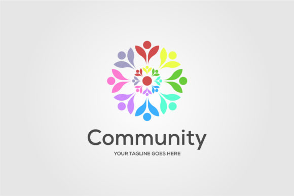 Community Charity People Flower Colorful Graphic Logos By lawoel - Image 1