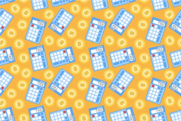 Finance Tax Calculator Dollar Seamless Graphic Patterns By Ardwork