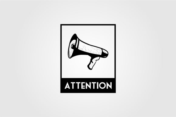 Megaphone Attention Vintage Illustration Graphic Objects By lawoel