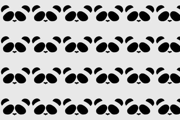 Print on Demand: Simple Panda Pattern Graphic Patterns By Rizky Creative