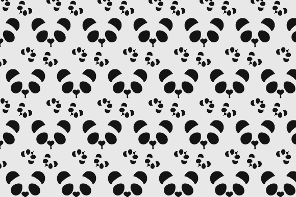 Print on Demand: Simple Panda Pattern Gráfico Moldes Por Rizky Creative