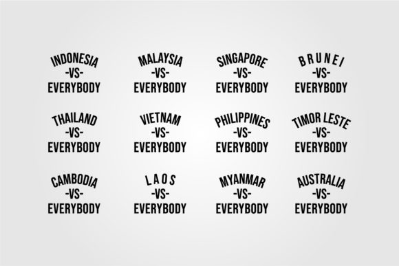 Southwest Asian Country Vs Everybody Graphic Objects By lawoel
