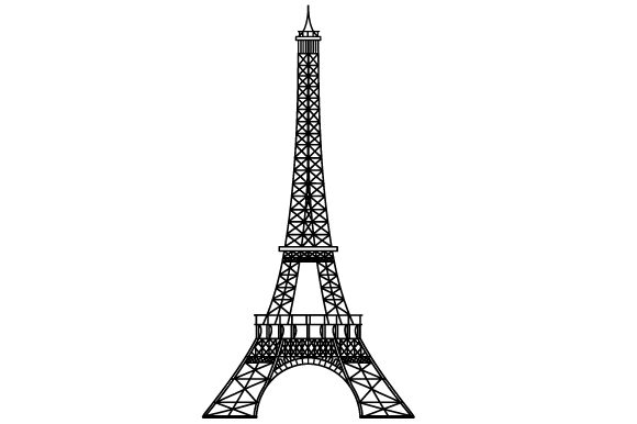 Eiffel Tower Travel Craft Cut File By Creative Fabrica Crafts
