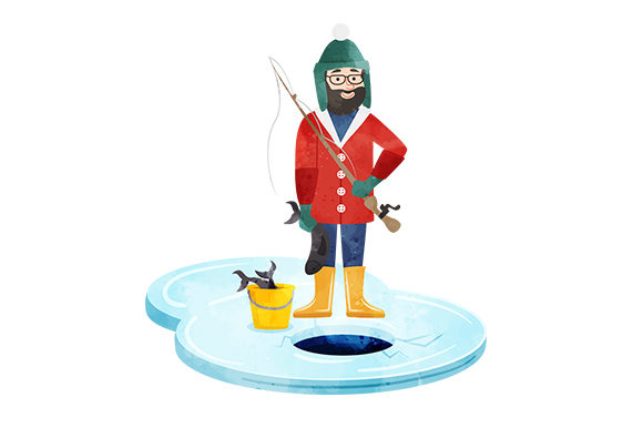 Ice Fisherman Winter Craft Cut File By Creative Fabrica Crafts