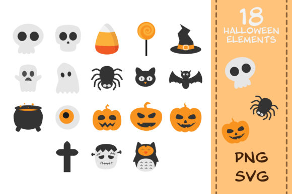 Print on Demand: 18 Halloween Clipart for Your DIY Graphic Crafts By IsaraDesign