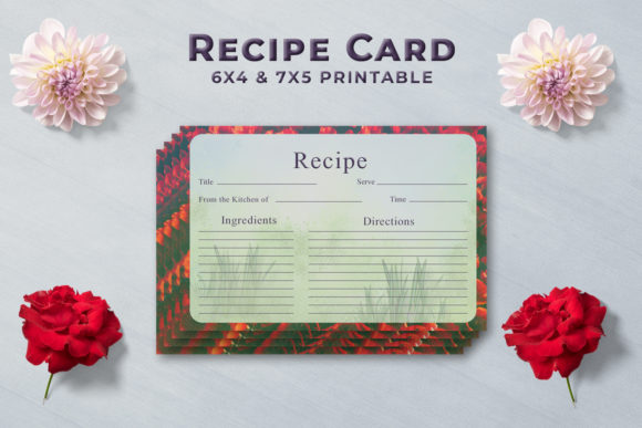 Print on Demand: Artistic Recipe Card Template V1 Graphic Print Templates By Creative Tacos - Image 1