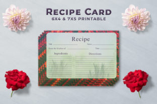 Print on Demand: Artistic Recipe Card Template V1 Graphic Print Templates By Creative Tacos