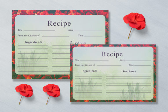 Print on Demand: Artistic Recipe Card Template V1 Graphic Print Templates By Creative Tacos - Image 2