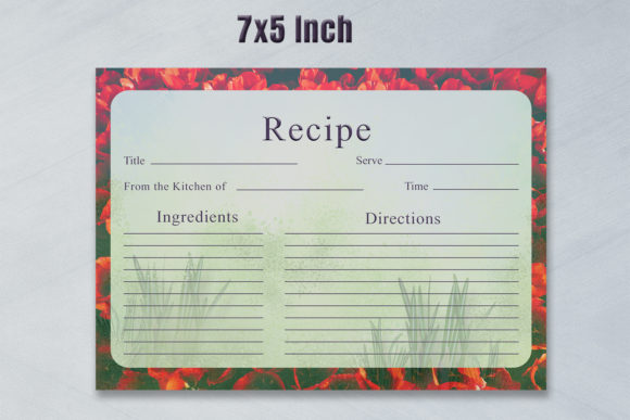 Print on Demand: Artistic Recipe Card Template V1 Graphic Print Templates By Creative Tacos - Image 3