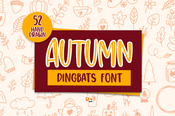 Print on Demand: Autumn Dingbats Font By dmletter31