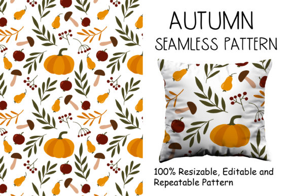 Autumn Gifts Seamless Pattern Grafik Muster von veidgenn