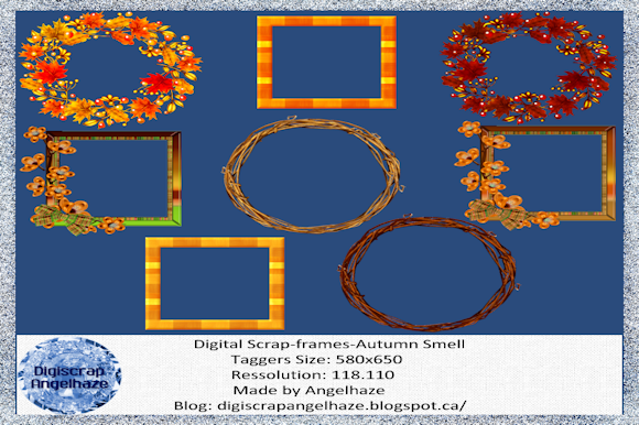 Print on Demand: Autumn Smell Frames Graphic Product Mockups By Digiscrap Angelhaze