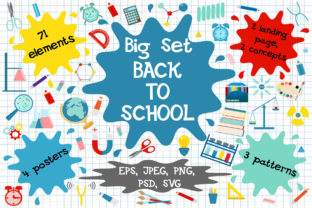 Print on Demand: Back to School Clipart Graphic Illustrations By OK-Design
