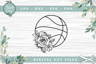 Print on Demand: Basketball Floral Cutting Files Graphic Crafts By basilio.vintage