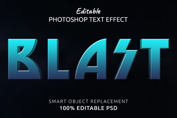 Print on Demand: Blast Photoshop Editable Text Effect Graphic Layer Styles By IYIKON